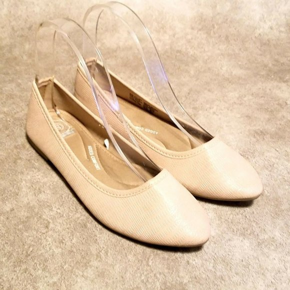 SO Womens Hitide 60769 Sz 6.5 Beige Slip On Flats